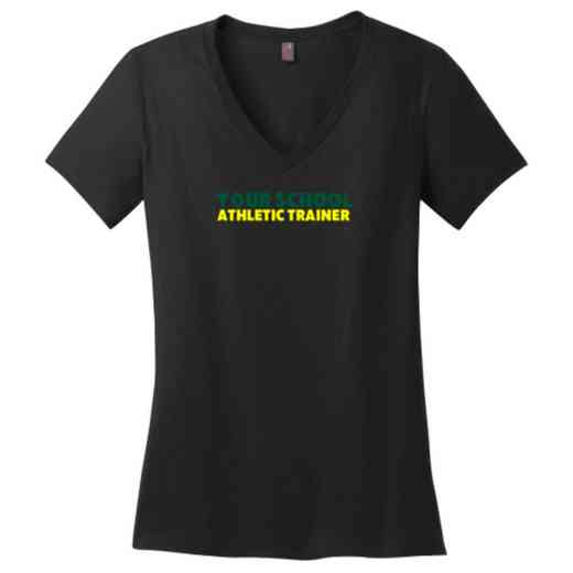 Athletic Trainer Womens Cotton V-Neck T-shirt