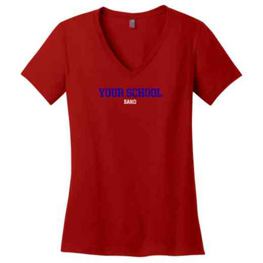 Band Womens Cotton V-Neck T-shirt