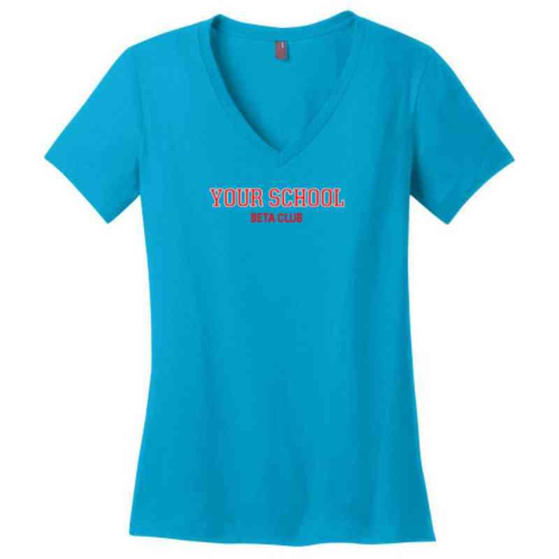 Beta Club Womens Cotton V-Neck T-shirt