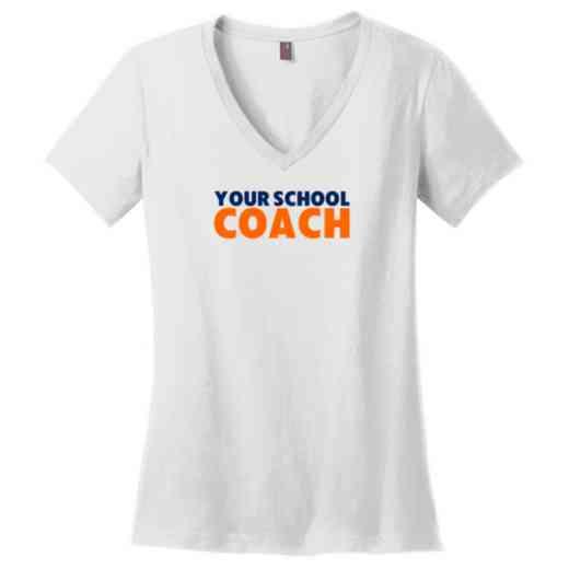 Coach Womens Cotton V-Neck T-shirt