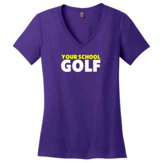 Golf Womens Cotton V-Neck T-shirt