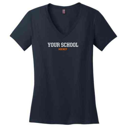 Hockey Womens Cotton V-Neck T-shirt