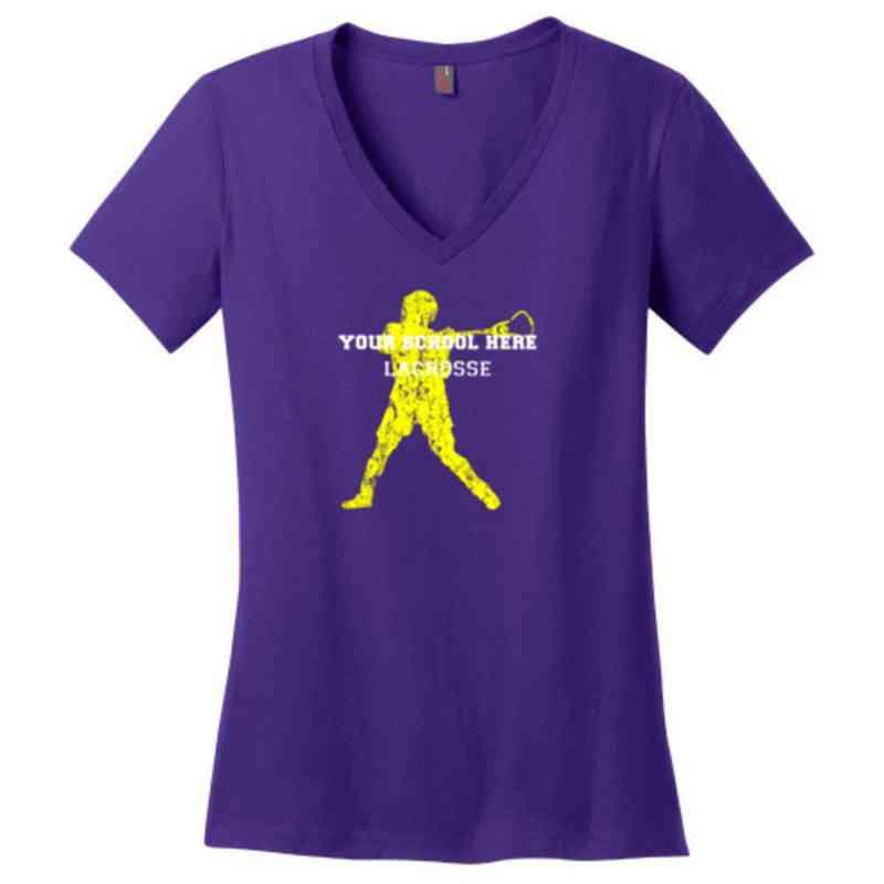 Lacrosse Womens Cotton V-Neck T-shirt