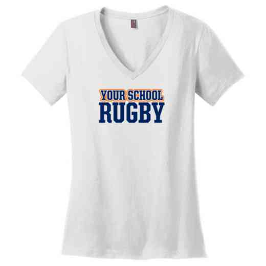 Rugby Womens Cotton V-Neck T-shirt