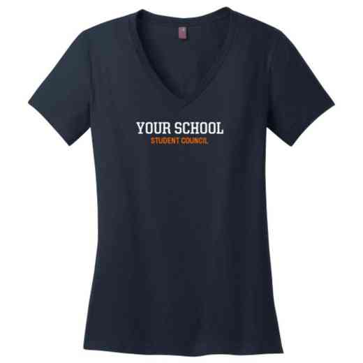 Student Council Womens Cotton V-Neck T-shirt