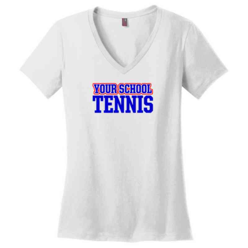Tennis Womens Cotton V-Neck T-shirt