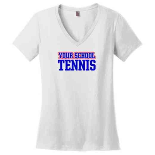 Tennis Womens Cotton V-Neck T-shirt