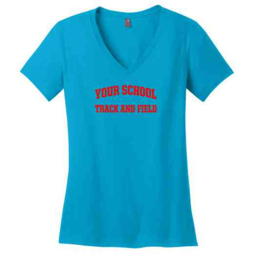 Track and Field Womens Cotton V-Neck T-shirt