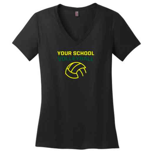 Volleyball  Womens Cotton V-Neck T-shirt
