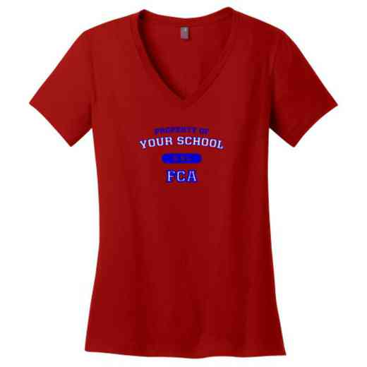 FCA Womens Cotton V-Neck T-shirt