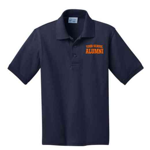 Youth Alumni Embroidered Jersey Polo Shirt