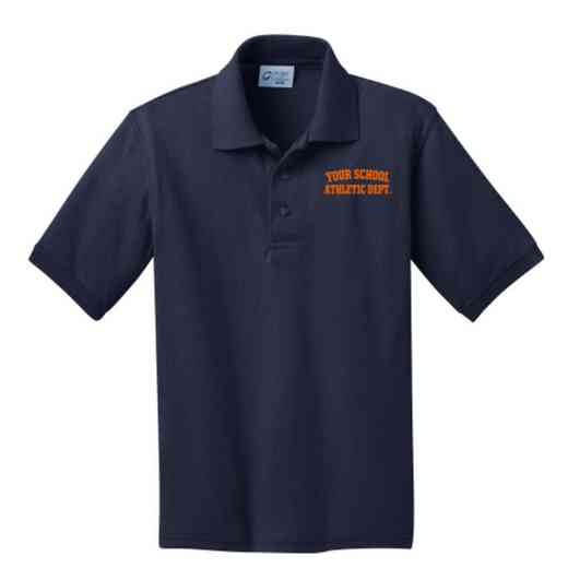 Youth Athletic Department Embroidered Jersey Polo Shirt