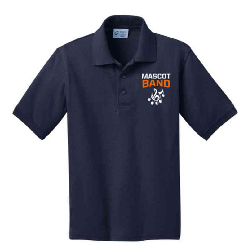 Youth Band Embroidered Jersey Polo Shirt