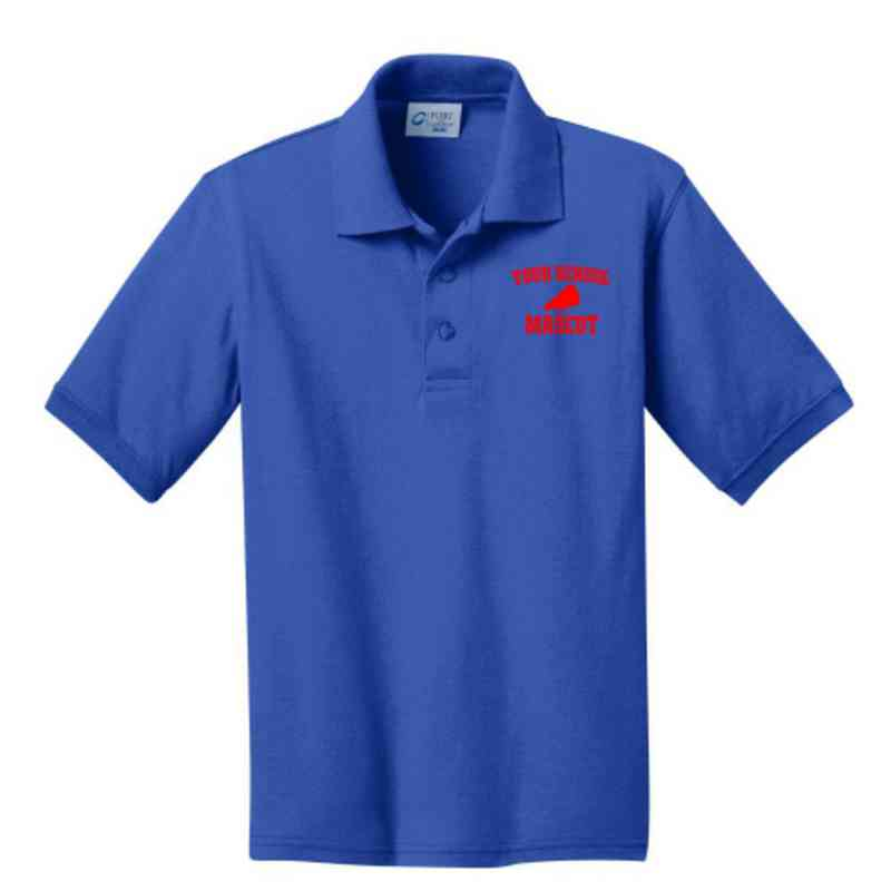 Youth Cheerleading Embroidered Jersey Polo Shirt