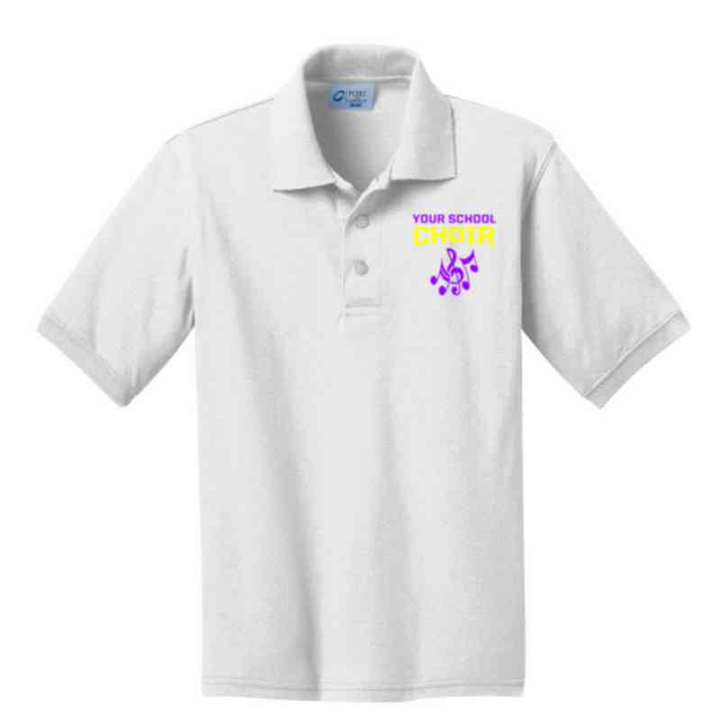 Youth Choir Embroidered Jersey Polo Shirt
