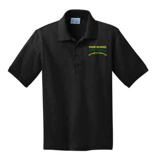 Youth Football Embroidered Jersey Polo Shirt