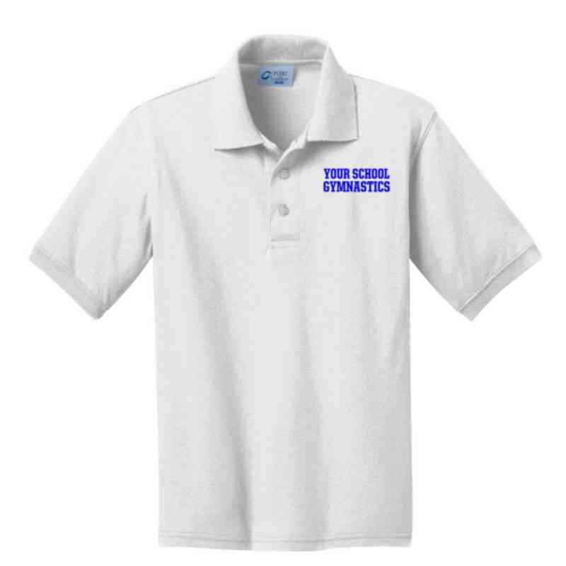 Youth Gymnastics Embroidered Jersey Polo Shirt