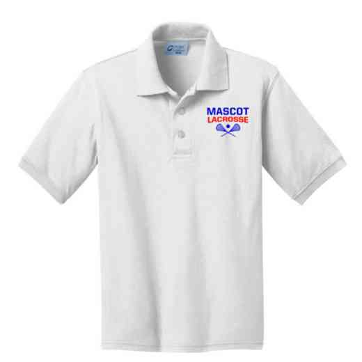 Youth Lacrosse Embroidered Jersey Polo Shirt