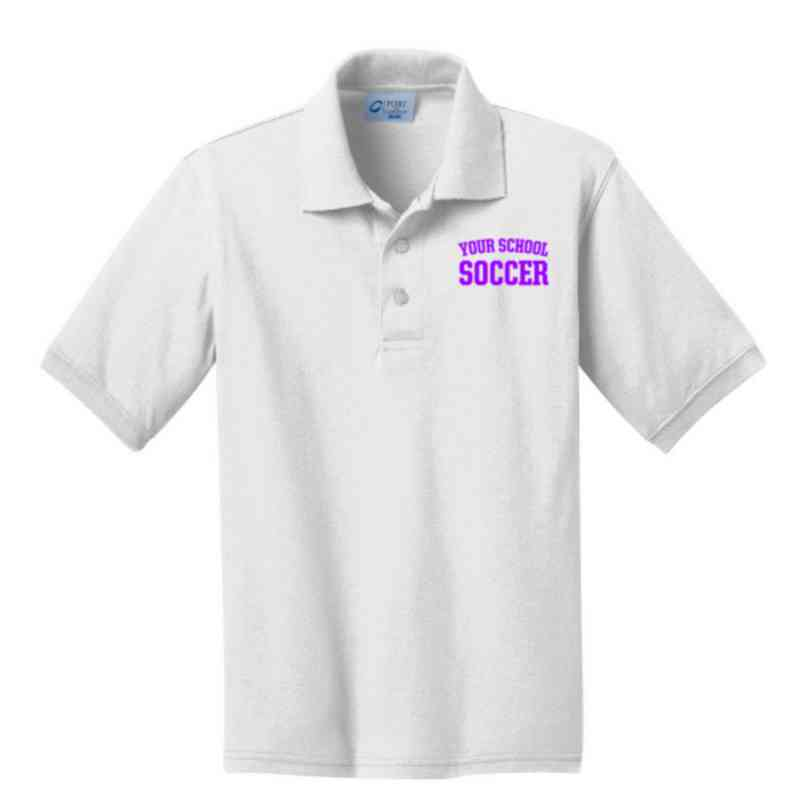 Youth Soccer Embroidered Jersey Polo Shirt