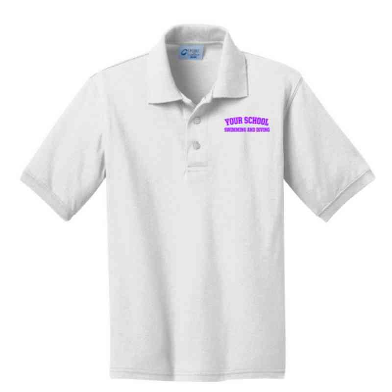 Youth Swimming & Diving Embroidered Jersey Polo Shirt