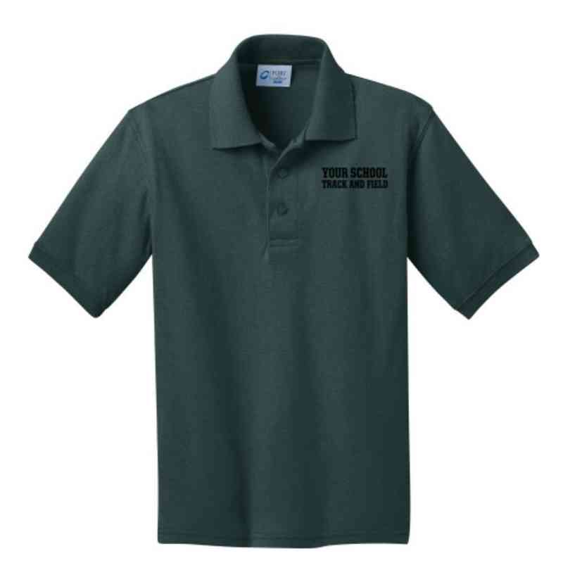 Youth Track & Field Embroidered Jersey Polo Shirt