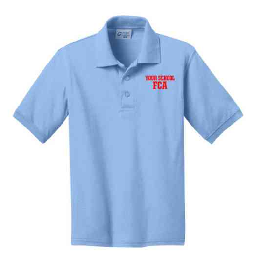 Youth FCA Embroidered Jersey Polo Shirt