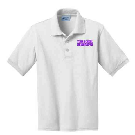 Youth Newspaper Embroidered Jersey Polo Shirt