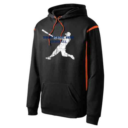 Adult Baseball Athletic Fleece Hoodie