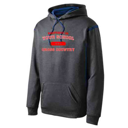 Adult Cross Country Athletic Fleece Hoodie