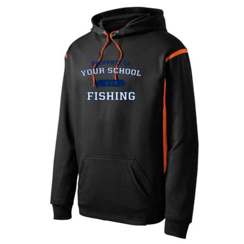 Adult Fishing Athletic Fleece Hoodie