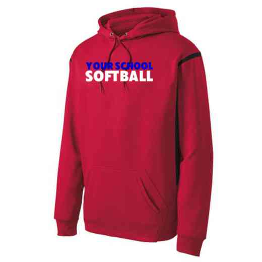 Adult Softball Athletic Fleece Hoodie