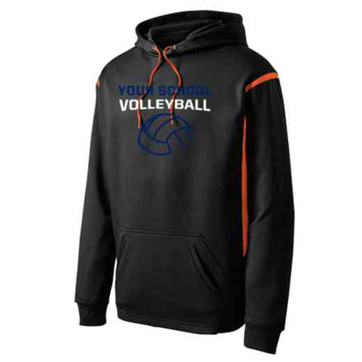 Adult Volleyball  Athletic Fleece Hoodie