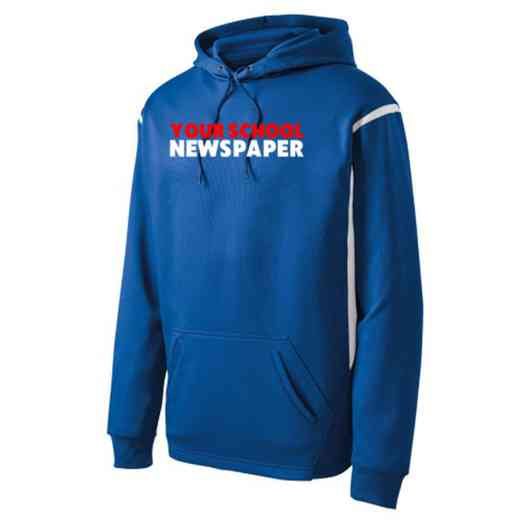 Adult Newspaper Athletic Fleece Hoodie