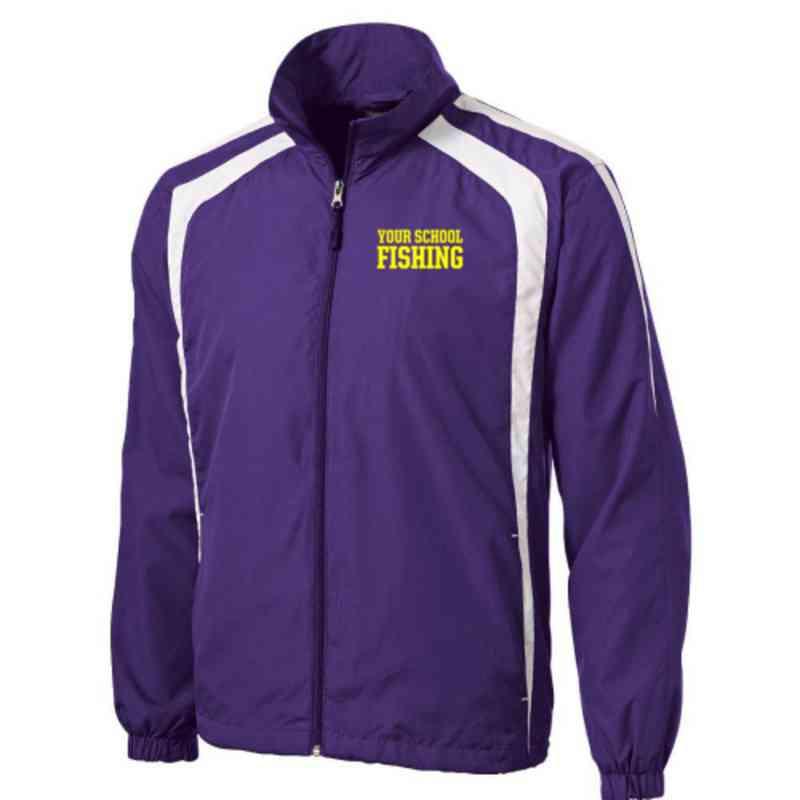 Men's Fishing Embroidered Lightweight Raglan Jacket