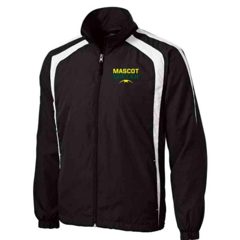 Men's Soccer Embroidered Lightweight Raglan Jacket