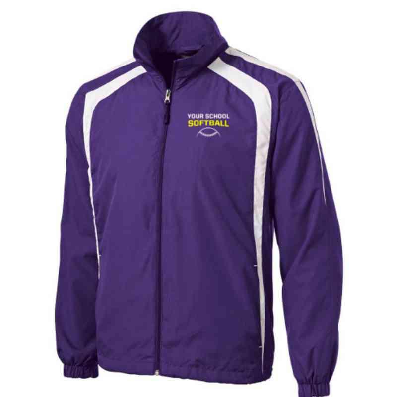 Men's Softball Embroidered Lightweight Raglan Jacket