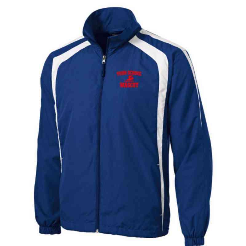 Men's Swimming & Diving Embroidered Lightweight Raglan Jacket