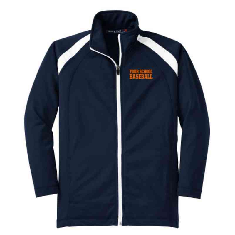 Youth Baseball Athletic Embroidered Tricot Track Jacket