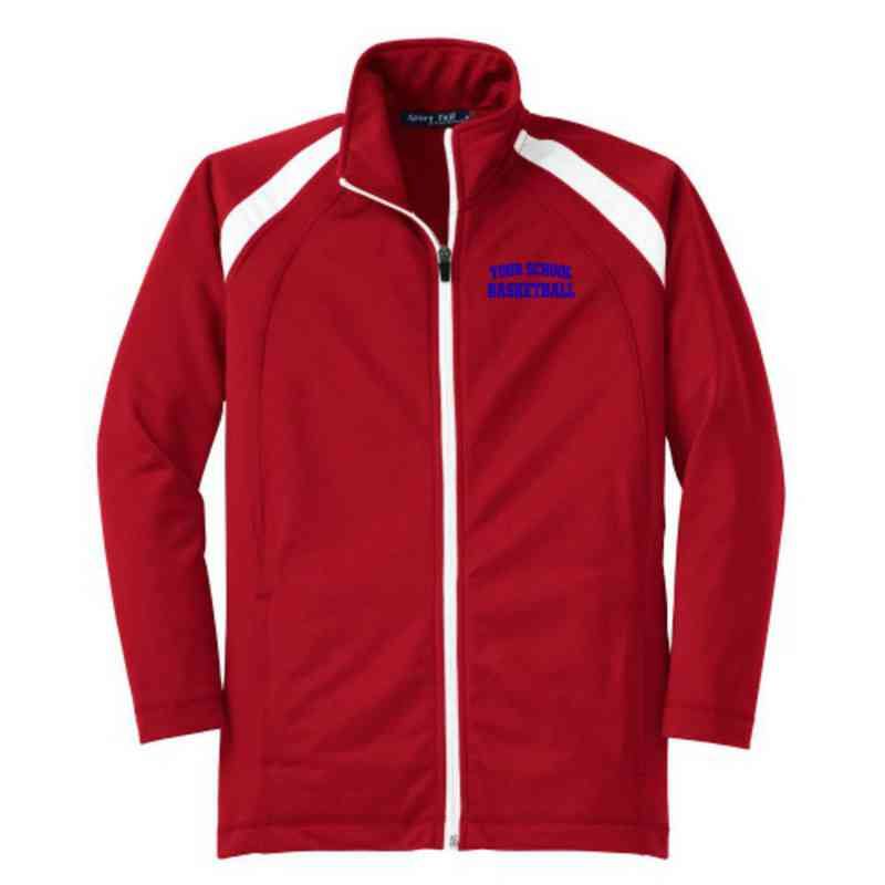 Youth Basketball Athletic Embroidered Tricot Track Jacket