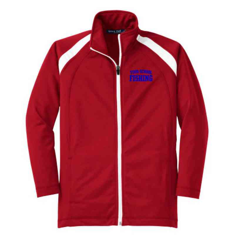 Youth Fishing Athletic Embroidered Tricot Track Jacket