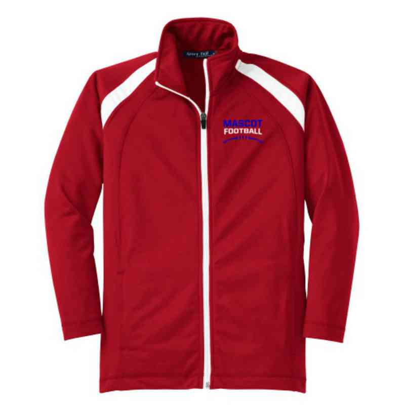 Youth Football Athletic Embroidered Tricot Track Jacket