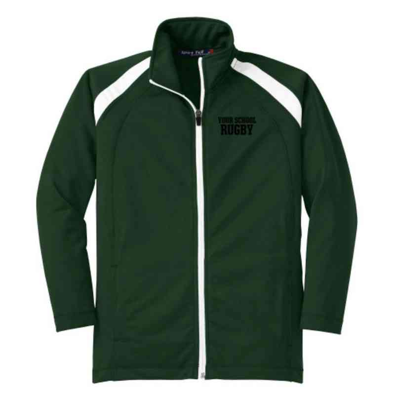 Youth Rugby Athletic Embroidered Tricot Track Jacket