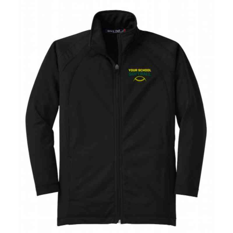 Youth Softball Athletic Embroidered Tricot Track Jacket