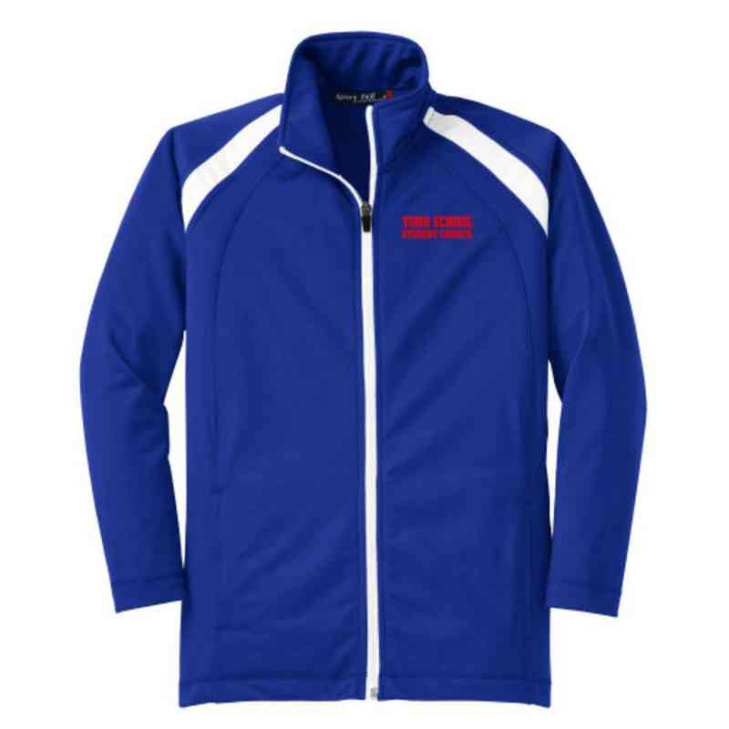 Youth Student Council Athletic Embroidered Tricot Track Jacket