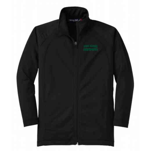 Youth Newspaper Athletic Embroidered Tricot Track Jacket