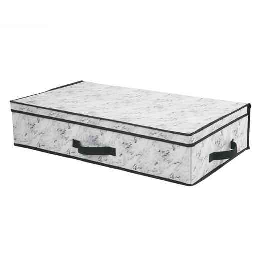26833-MARBLE: STORAGE BOX UNDERBED 28X16X6-MARBLE