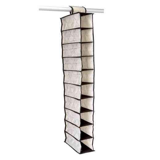 M-77824: NW 10 SHELF SHOE ORGANIZER - GEO NATURAL