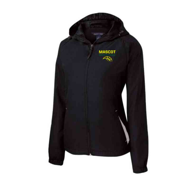 Women's Basketball Embroidered Lightweight Hooded Raglan Jacket