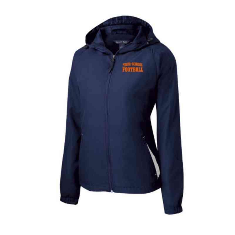 Women's Football Embroidered Lightweight Hooded Raglan Jacket