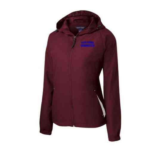 Women's Gymnastics Embroidered Lightweight Hooded Raglan Jacket